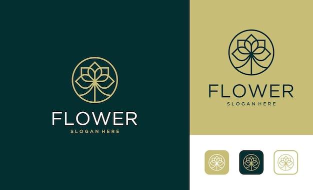 Création de logo élégant de style art de ligne de luxe