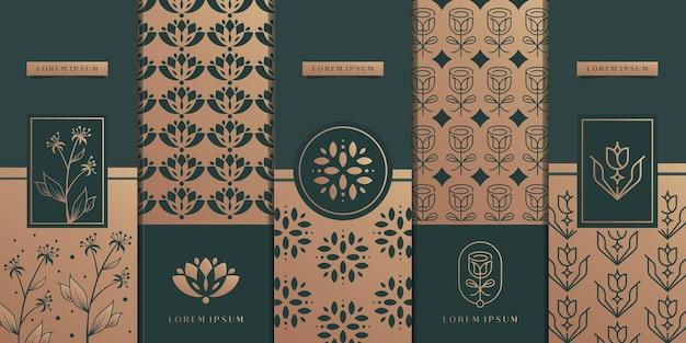 Création de logo d'emballage doré de luxe