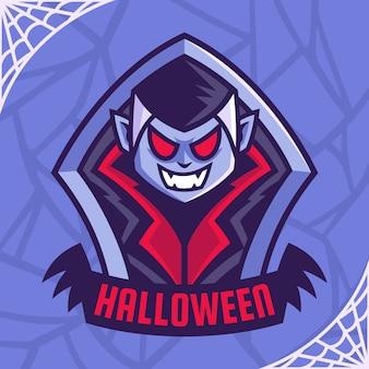 Création de logo emblème dracula vampire sombre
