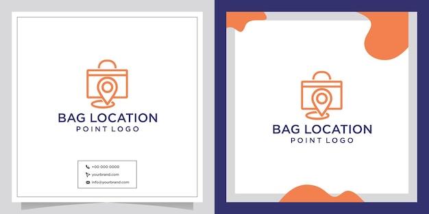 Création de logo d'emplacement de magasin de sacs