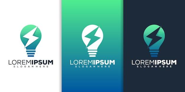 Création de logo d'énergie d'ampoule
