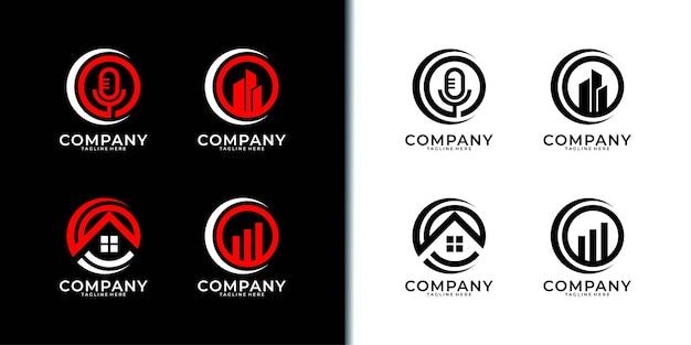 Création de logo d'entreprise de cercle moderne.