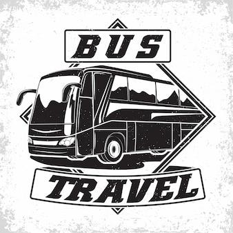 Création de logo d'entreprise de voyage en bus