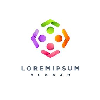 Création de logo d'équipe colorée prête à l'emploi