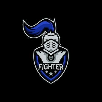 Création de logo d'escouade de combat spartiate