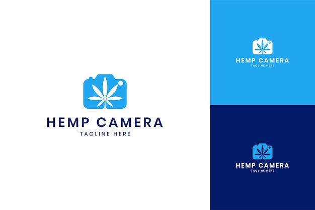 Création de logo d'espace négatif de caméra de cannabis