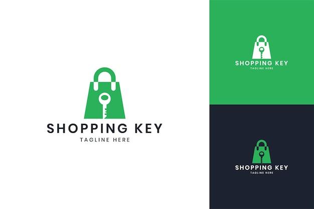 Création de logo d'espace négatif clé d'achat