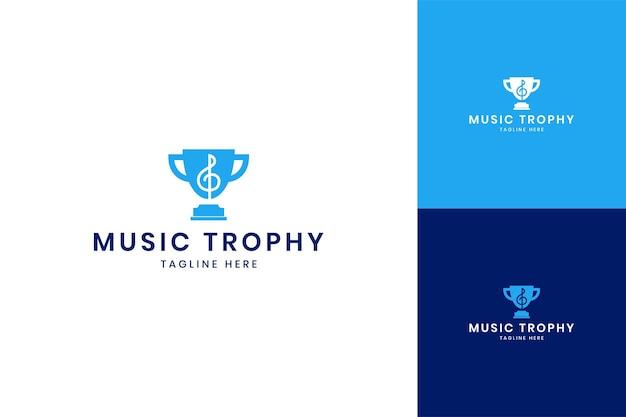 Création de logo d'espace négatif pour le trophée de la musique