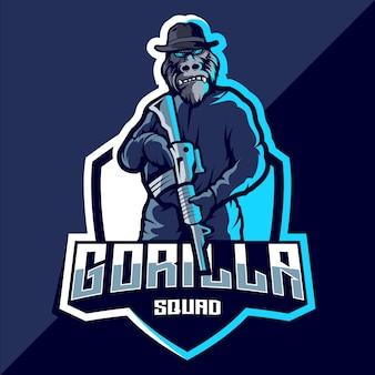 Création de logo esport gorilla squad