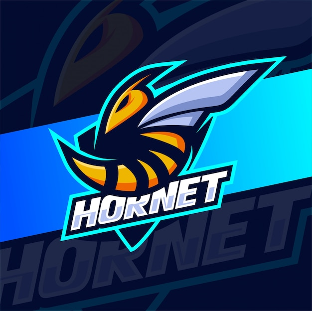 Création de logo esport mascotte abeille frelon