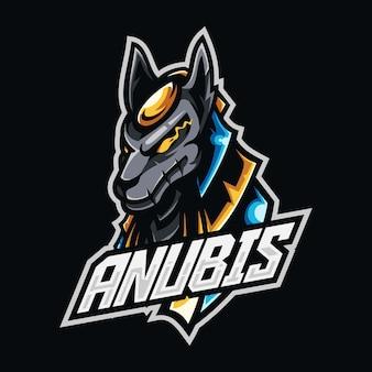 Création de logo esport mascotte anubis