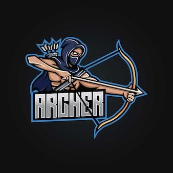 Création de logo esport mascotte archer