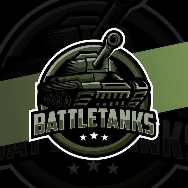 Création de logo esport mascotte char de combat
