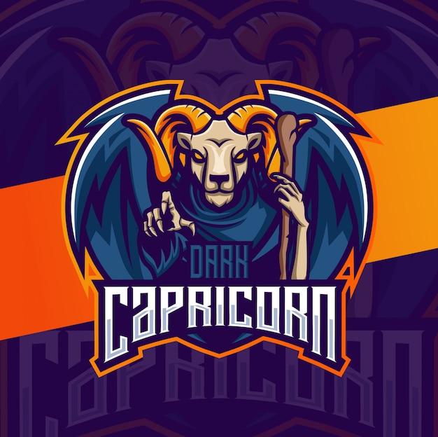 Création de logo esport mascotte chèvre ram chaman
