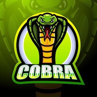 Création De Logo Esport Mascotte Cobra Vecteur Premium