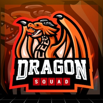 Création De Logo Esport Mascotte Dragon Vecteur Premium