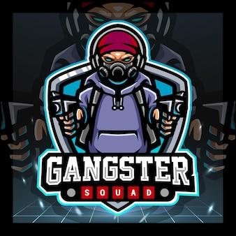 Création de logo esport mascotte gangster