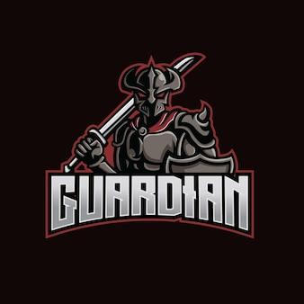 Création de logo esport mascotte gardienne