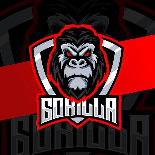 Création de logo esport mascotte gorille