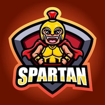 Création de logo esport mascotte guerrier spartiate