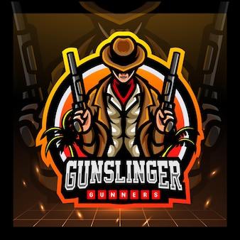 Création de logo esport mascotte gunslinger