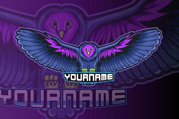 Création de logo esport mascotte hibou
