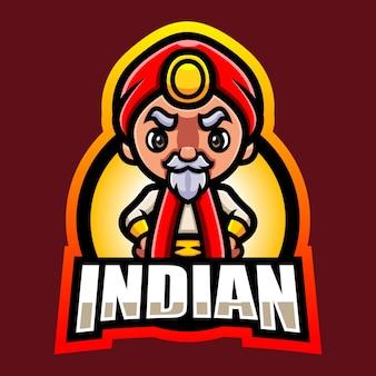 Création de logo esport mascotte indienne