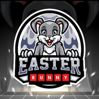 Création de logo esport mascotte lapin de pâques