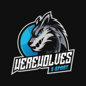 Création de logo esport mascotte loup-garou