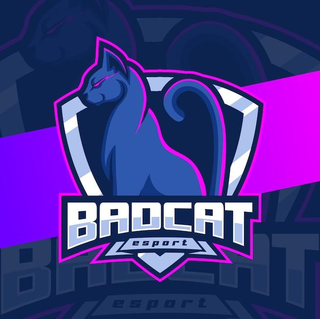 Création de logo esport mascotte mauvais chat