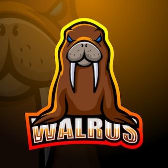 Création de logo esport mascotte morse