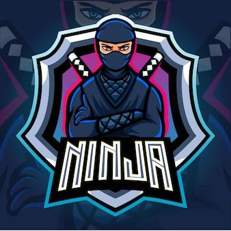 Création de logo esport mascotte ninja