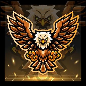 Création de logo esport mascotte oiseau aigle