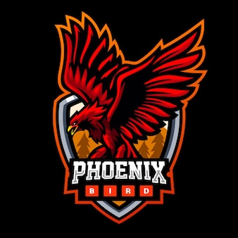 Création de logo esport mascotte oiseau phoenix