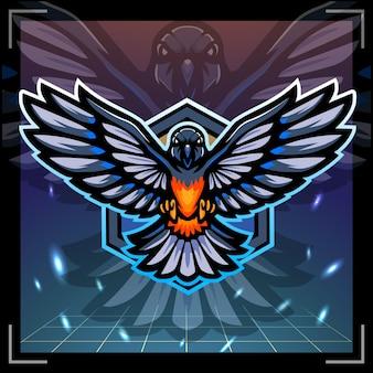 Création de logo esport mascotte oiseau pie