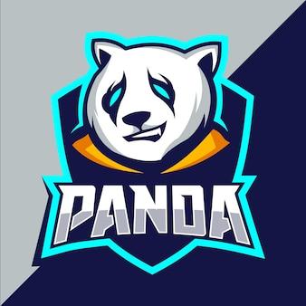 Création de logo esport mascotte panda