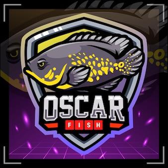 Création de logo esport mascotte poisson oscar