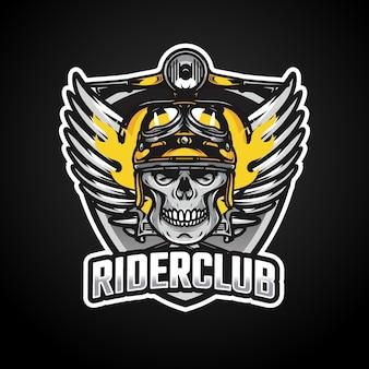 Création de logo esport mascotte riders