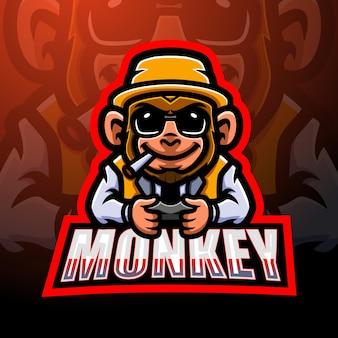 Création de logo esport mascotte singe
