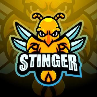 Création de logo esport mascotte stinger
