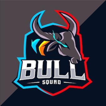 Création de logo esport mascotte taureau