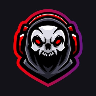 Création de logo esport mascotte tête de mort