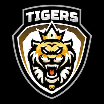 Création de logo esport mascotte tigres