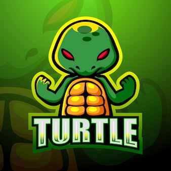 Création de logo esport mascotte tortue