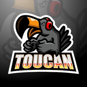 Création de logo esport mascotte toucan