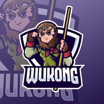 Création de logo esport roi singe