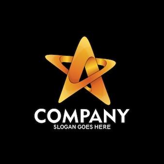 Création de logo en étoile, logo en étoile comme symbole de succès et de vitesse