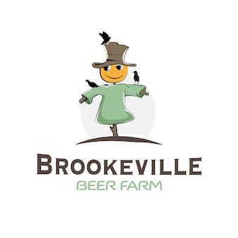 Création de logo factice ferme de bière