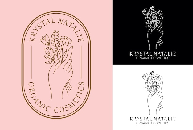Création de logo féminin fleur à la main