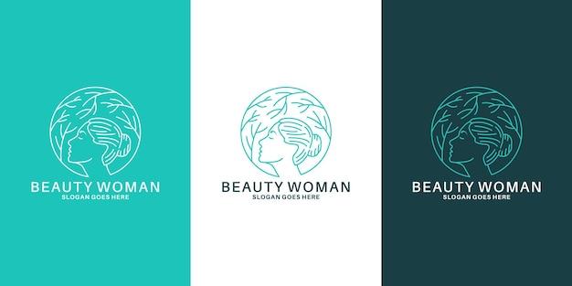 Création de logo de femmes de beauté pour votre salon d'affaires, spa, cosmétique